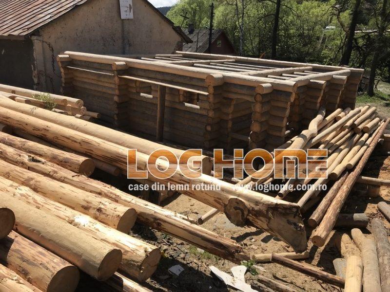 Galerie Foto Case Si Cabane Din Lemn Rotund Log Home Vatra Dornei Suceava