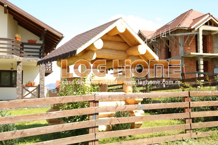 Mic mobilier din lemn foisoare leagane bancute log for Www loghome com