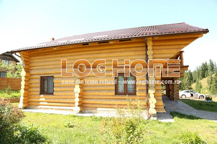 Construc ii case din lemn rotund busteni log home for Www loghome com