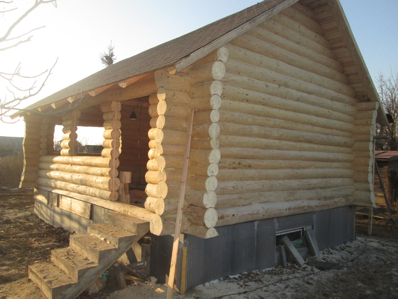 Cabane Din Lemn Rotund Busteni Log Home Vatra Dornei Suceava