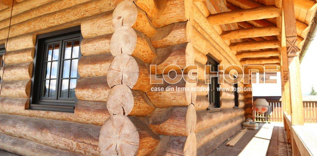 Case din lemn rotund busteni vatra dornei suceava for Case de lemn rotund