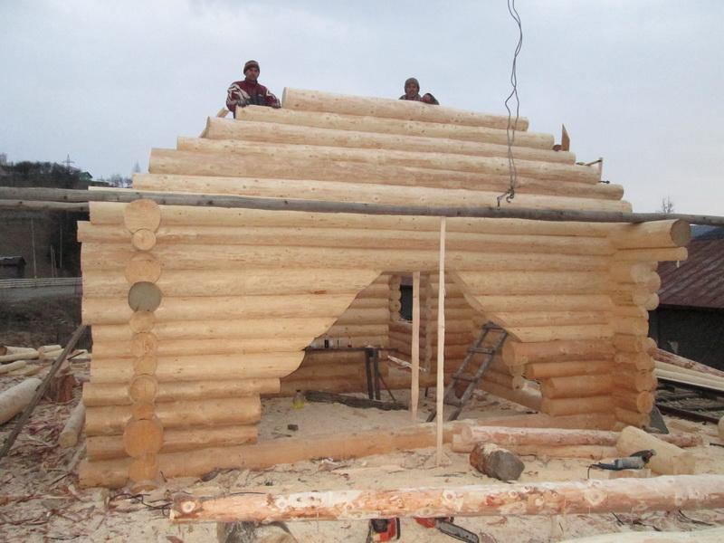 Casa din lemn rotund la certeze jud satu mare log home for Www loghome com