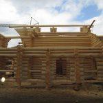constructii case din busteni lemn rotund