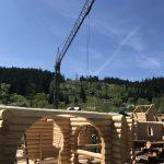 firma constructii case din busteni lemn rotund