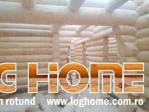 casa de vanzare din busteni lemn rotund